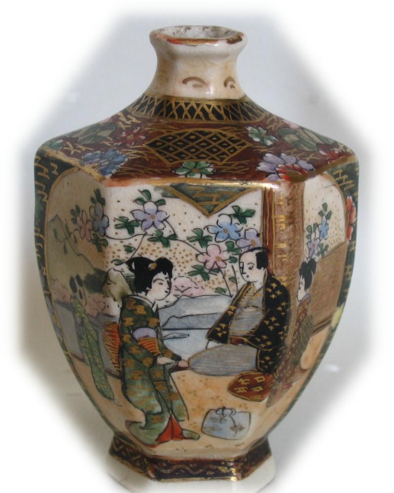 Japon porselenleri japanese porcelain 1 satsuma vazosu okgen formlu gyokuzan tarafndan resimlenmitir satsuma vase by gyokuzanlate meiji period heightykselik85cm reviewsmspy